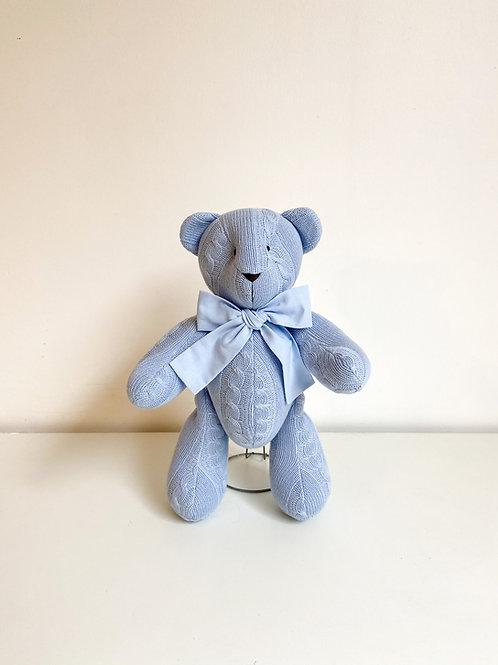 Urso tricot azul
