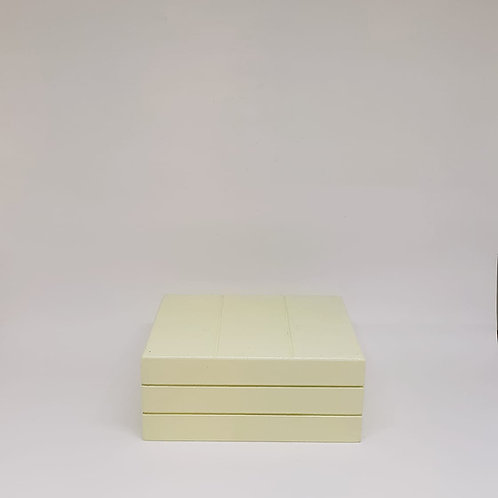 Caixa madeira Teca P amarelo claro