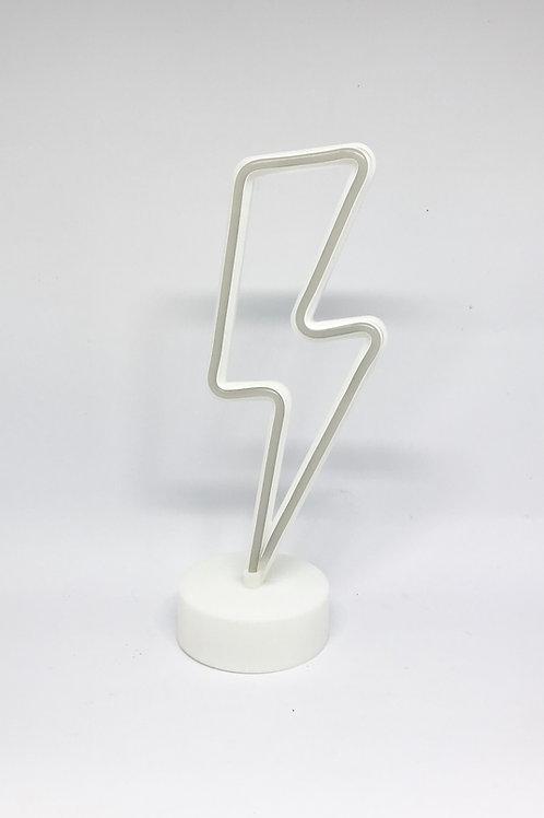 Luminoso raio neon