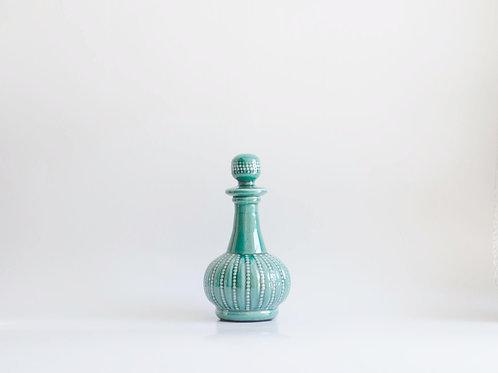 Garrafa cerâmica verde