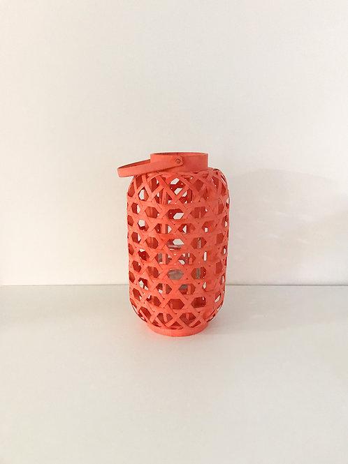 Lanterna de palha coral