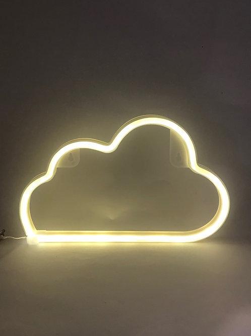 Luminoso neon nuvem