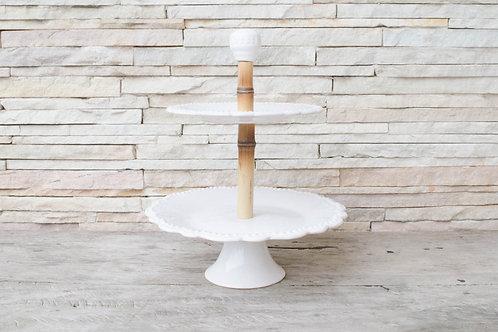 Suporte cerâmica Bambu 2 andares
