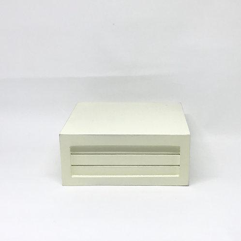 Caixa Teca amarela claro