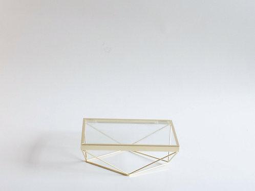 Bandeja Triângulos M dourado