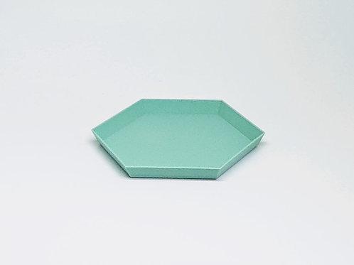 Bandeja geométrica verde