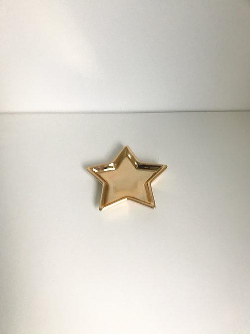 Bandeja estrela dourada