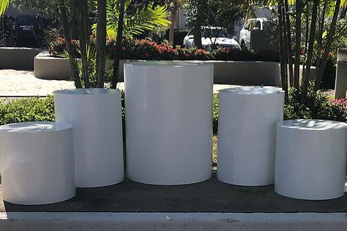 Conjunto 5 cilindros branco