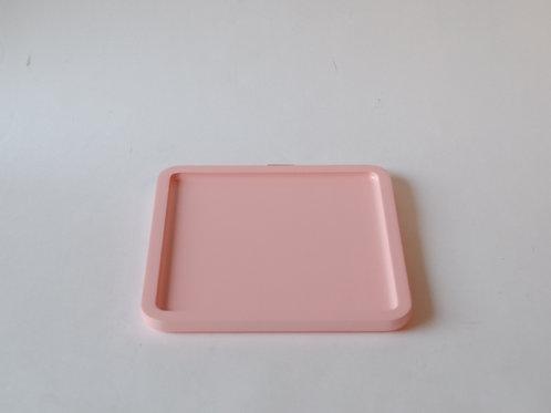 Bandeja quadrada Milão rosa