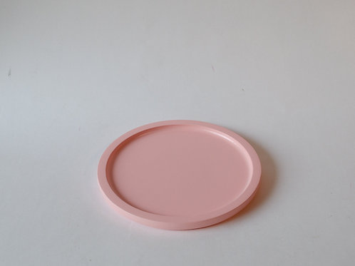 Bandeja redonda Milão rosa