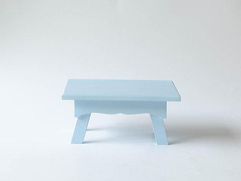 Mini banco Sofia azul claro