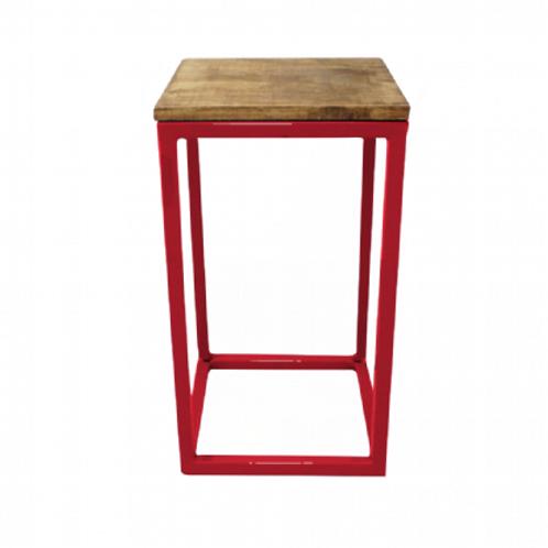 Mesa cubo vermelha 28,5(L)x28,5(P)x70(A)
