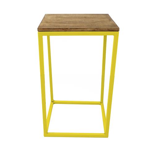 Mesa cubo amarela 40(L)X40(P0X66,5(A)
