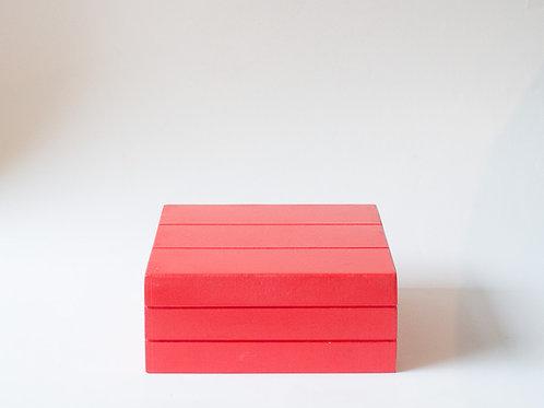 Caixa Teca vermelha