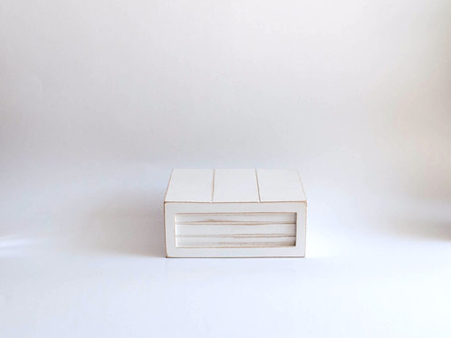 Caixa madeira Geta P branca