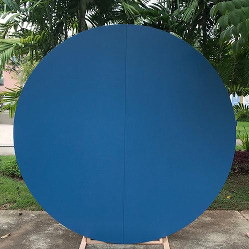 Painel redondo azul escuro (2m)