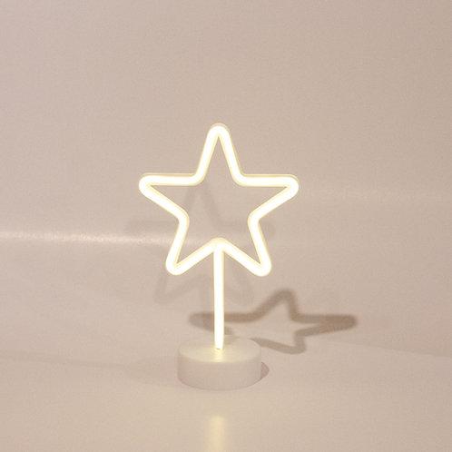 Luminoso estrela neon