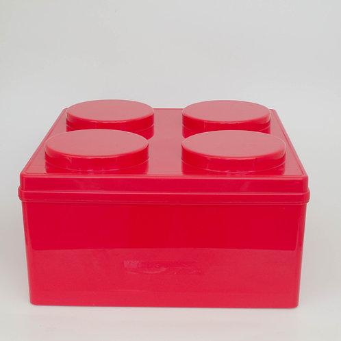 Caixa Lego vermelho