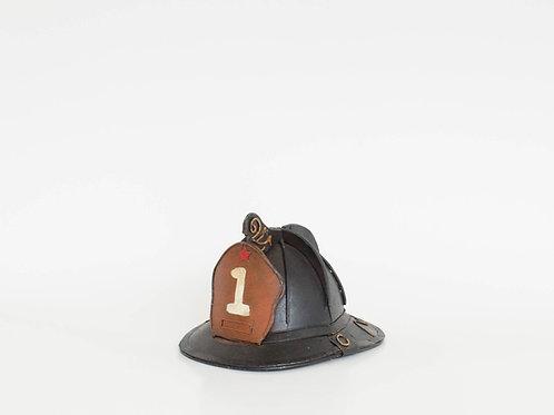 Capacete bombeiro retro