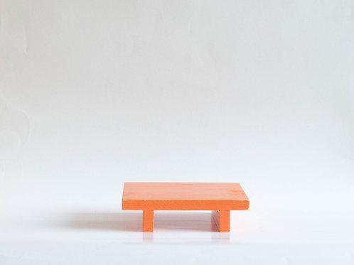 Bandeja madeira Geta P laranja