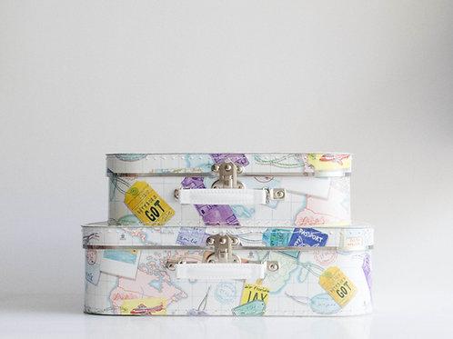 Conjunto maletas Mapa Mundi
