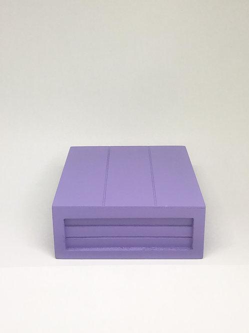 Caixa madeira Geta P lilás