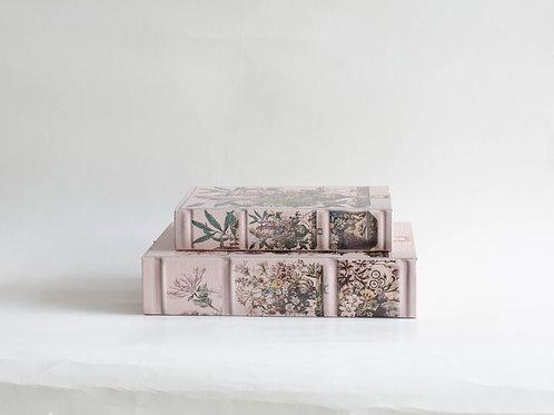 Conjunto livros Flores rosa