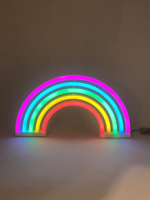 Luminoso neon arco-iris
