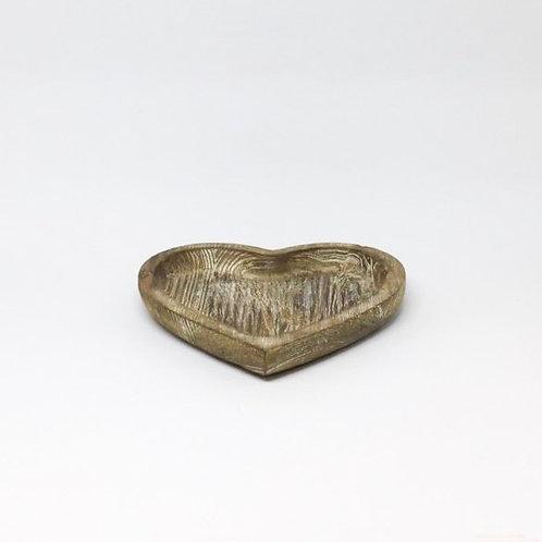 Bandeja madeira coração