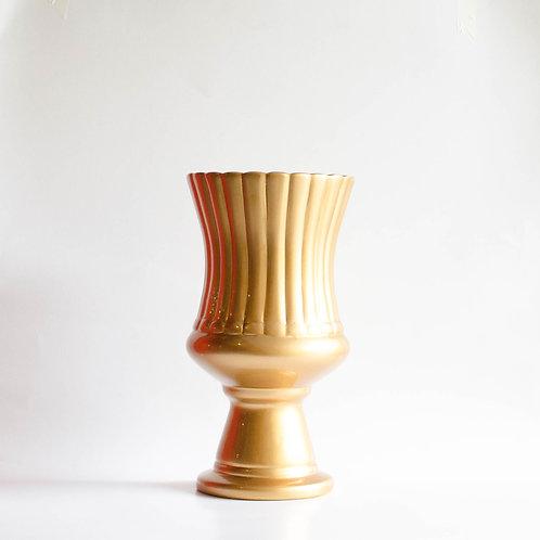 Vaso Pétala G dourado