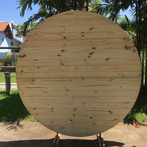 Painel redondo madeira clara