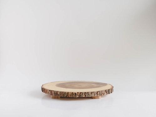 Bandeja Wood com pé baixo M