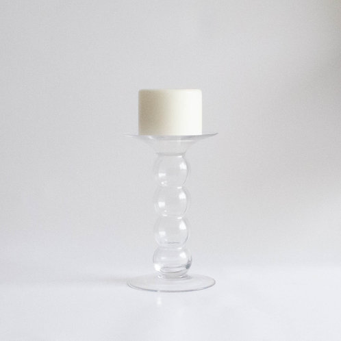 Castiçal vidro Bolas (par)