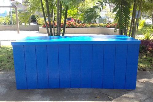 Mesa caixa azul  205(L)X82(P)X80(A)