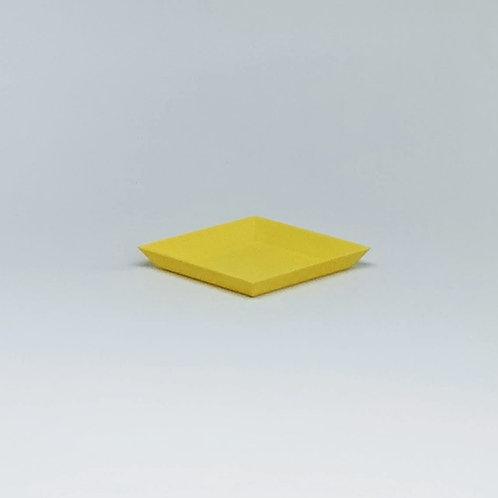 Bandeja geométrica amarela