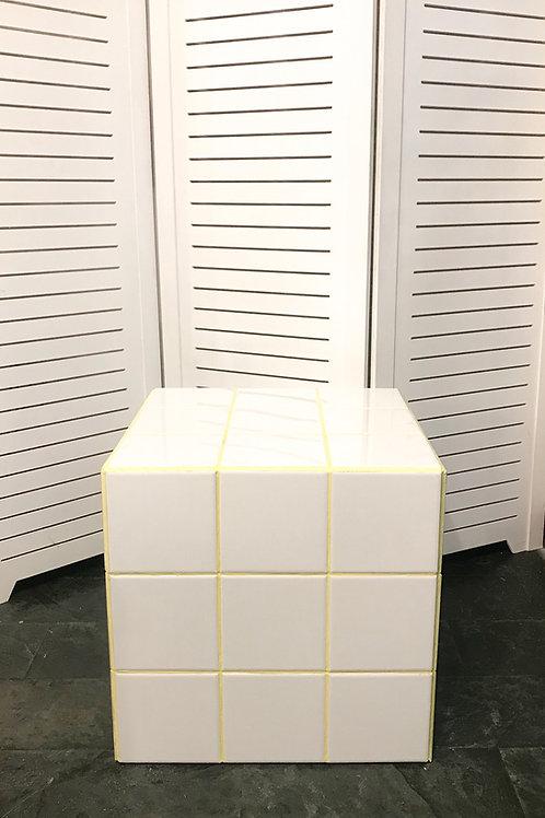 Cubo azulejo rejunte amarelo