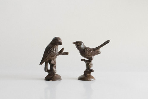 Casal de pássaros Ferro