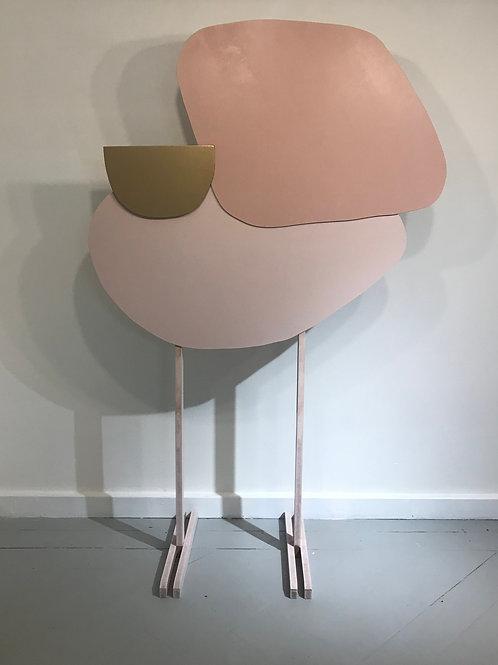 Painel Libélula rosa e dourado