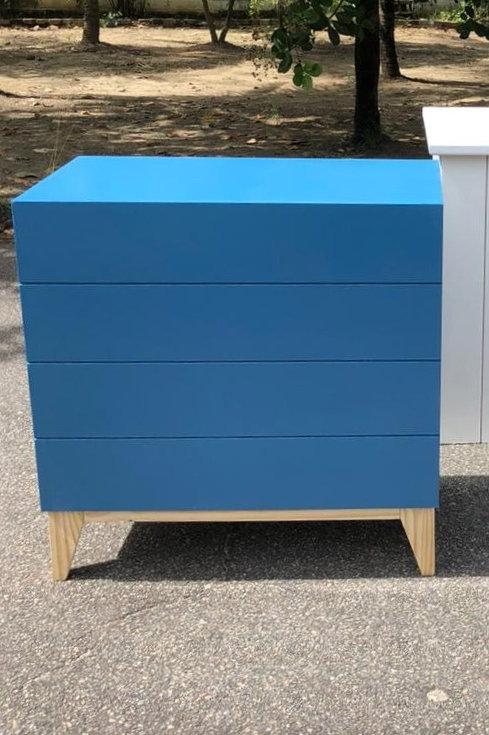 Comoda Moderna azul
