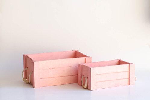 Conjunto caixotes rosa