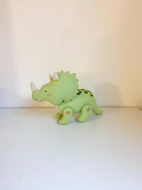 Dinossauro feltro verde