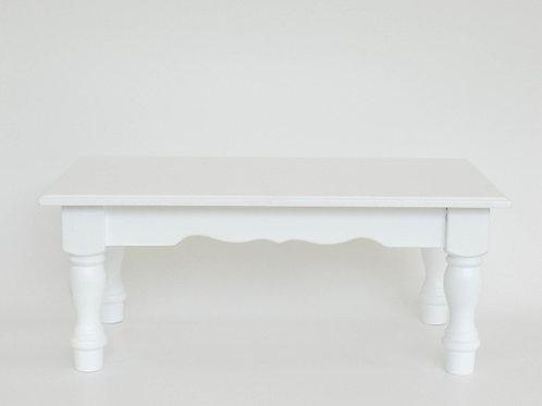 Banco de madeira branca