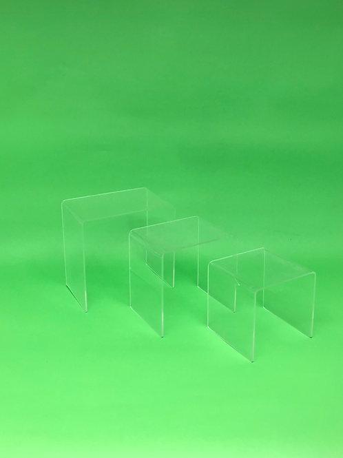 Trio mini acrílico transparente