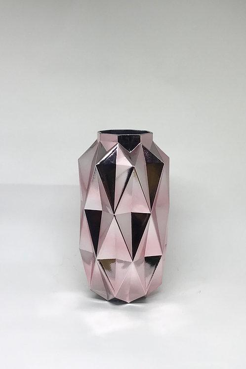 Vaso vidro Espelhado rosa