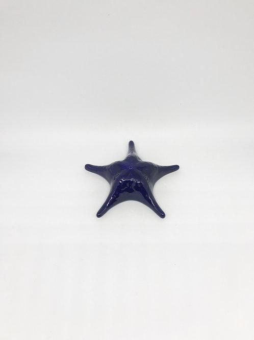 Estrela do mar cerâmica azul