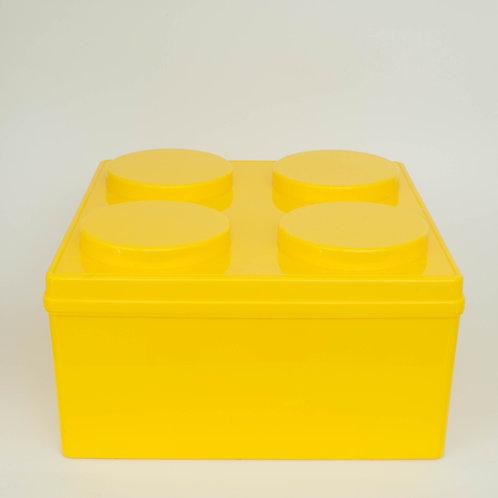 Caixa Lego amarela