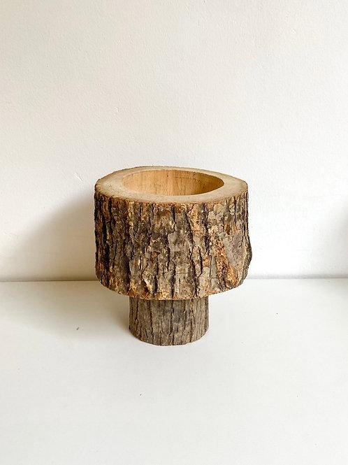 Cachepot madeira tronco P