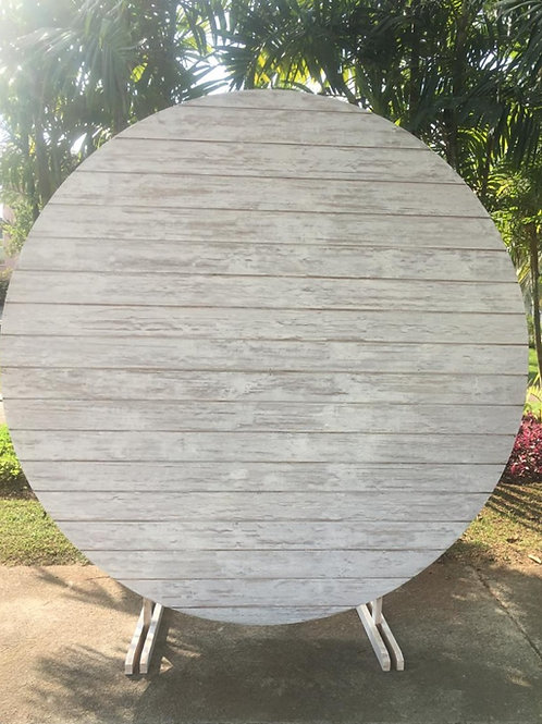 Painel redondo patina branco (2m)