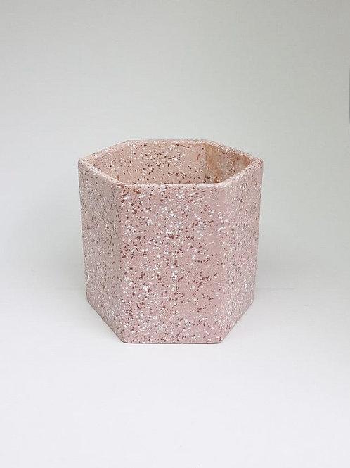 Vaso Granilite G sextavado rosa