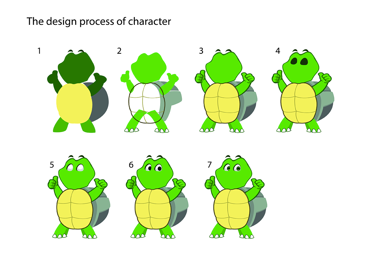 Dpwdesign, making turtle character